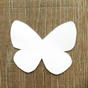 White butterfly template
