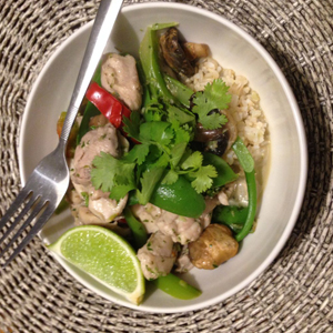 Thai Chicken with Lime and Coconut Sauce