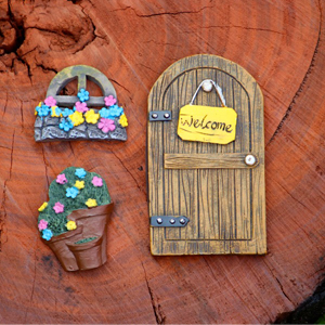 My Little Fairy Garden Door and Flowers Set