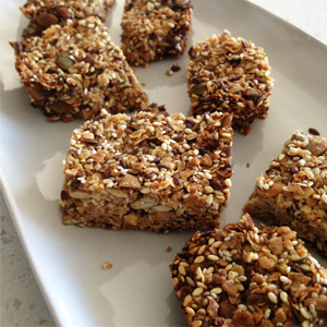 Seedy Pumpkin Oat Bars