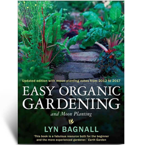 Organic gardening book and moon planting guide