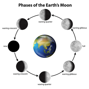Phases of Earth's Moon