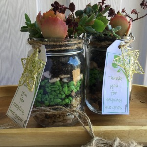 Succulent Jars - Best teachers gifts!