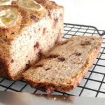healthy banana bread slide slice