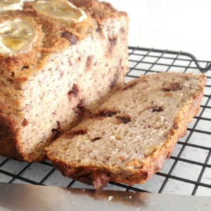 Healthy Banana Bread Slice