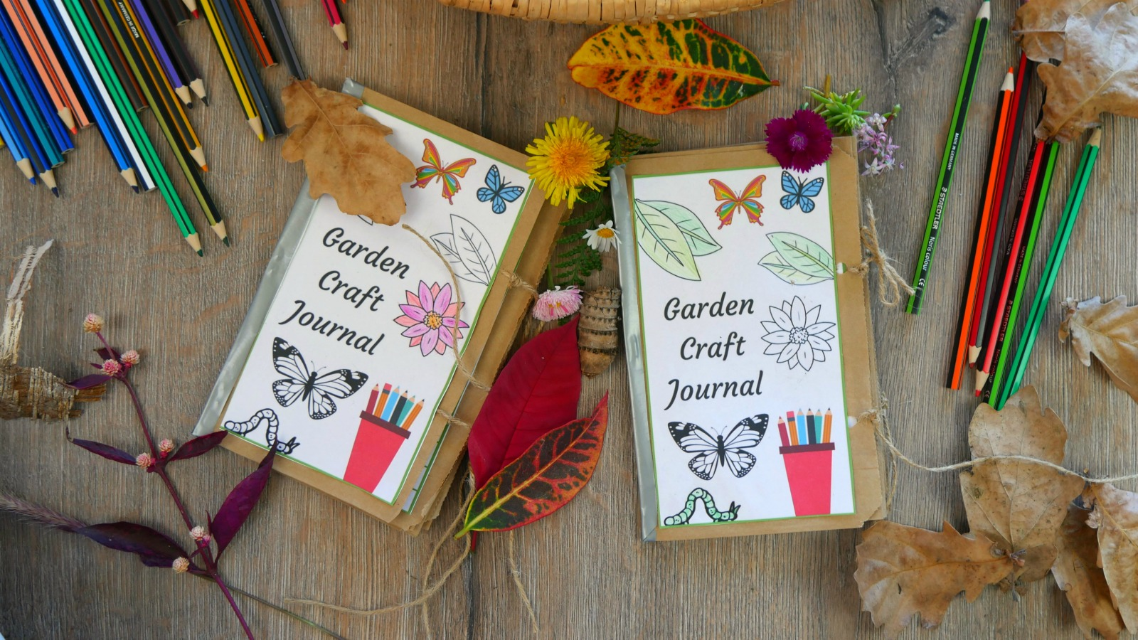 How to make this amazing kids garden diary!