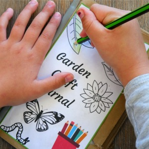 Garden diary - colouring in the front cover
