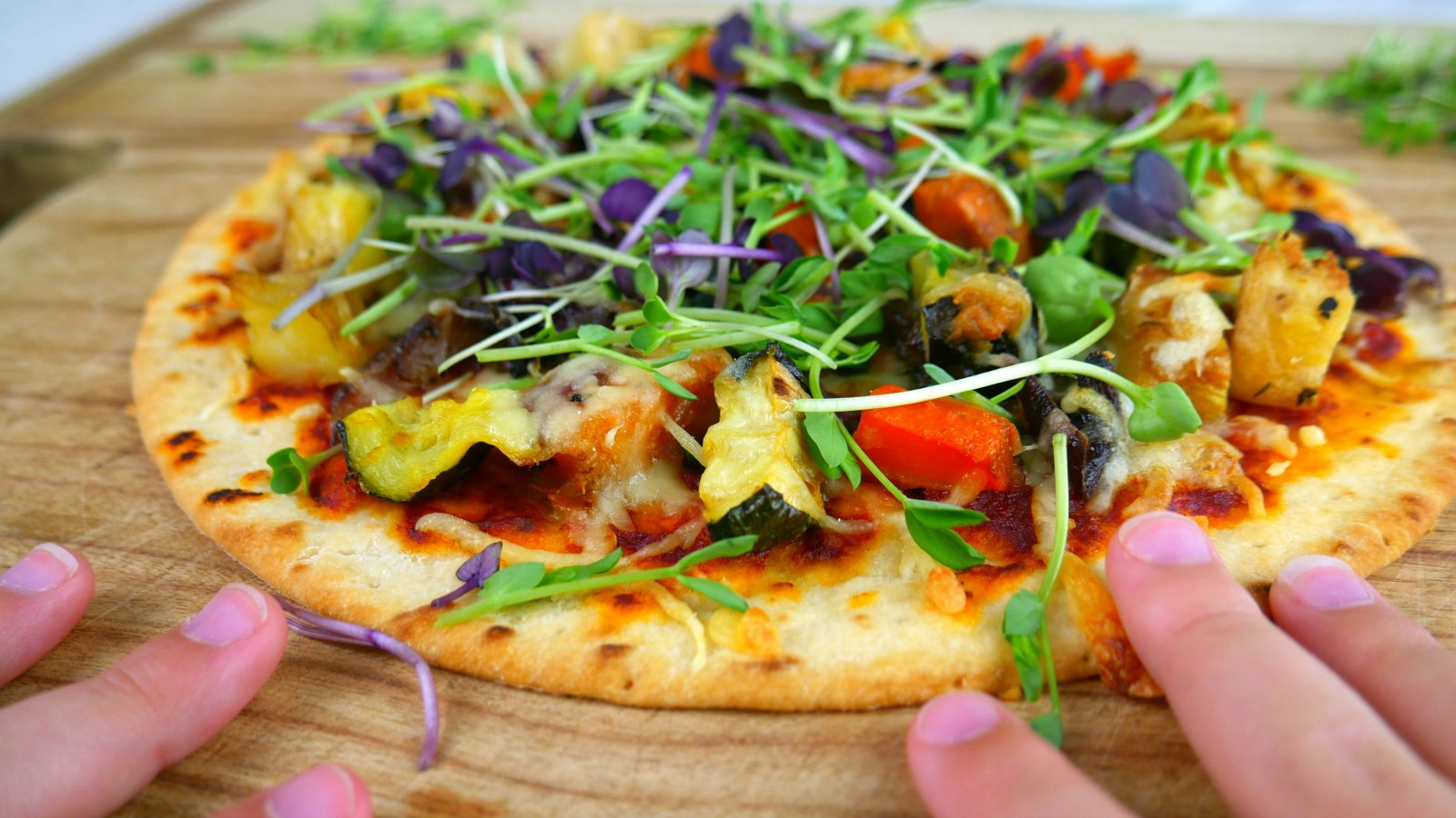 Microgreens Kit - microgreens pizza finished