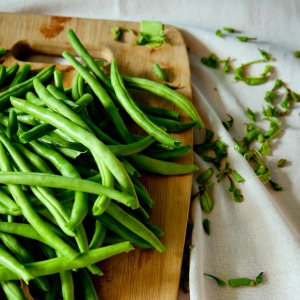 vegetable garden - green beans