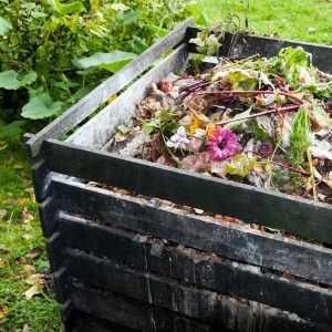 Household waste recycling outdoor compost