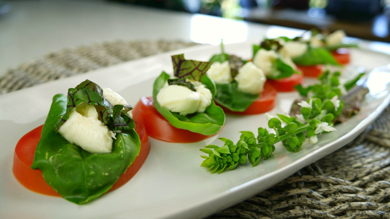 Tomato, basil and bocconcini salad