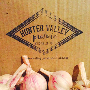 How to grow garlic in Australia_hunter valley produce stamp
