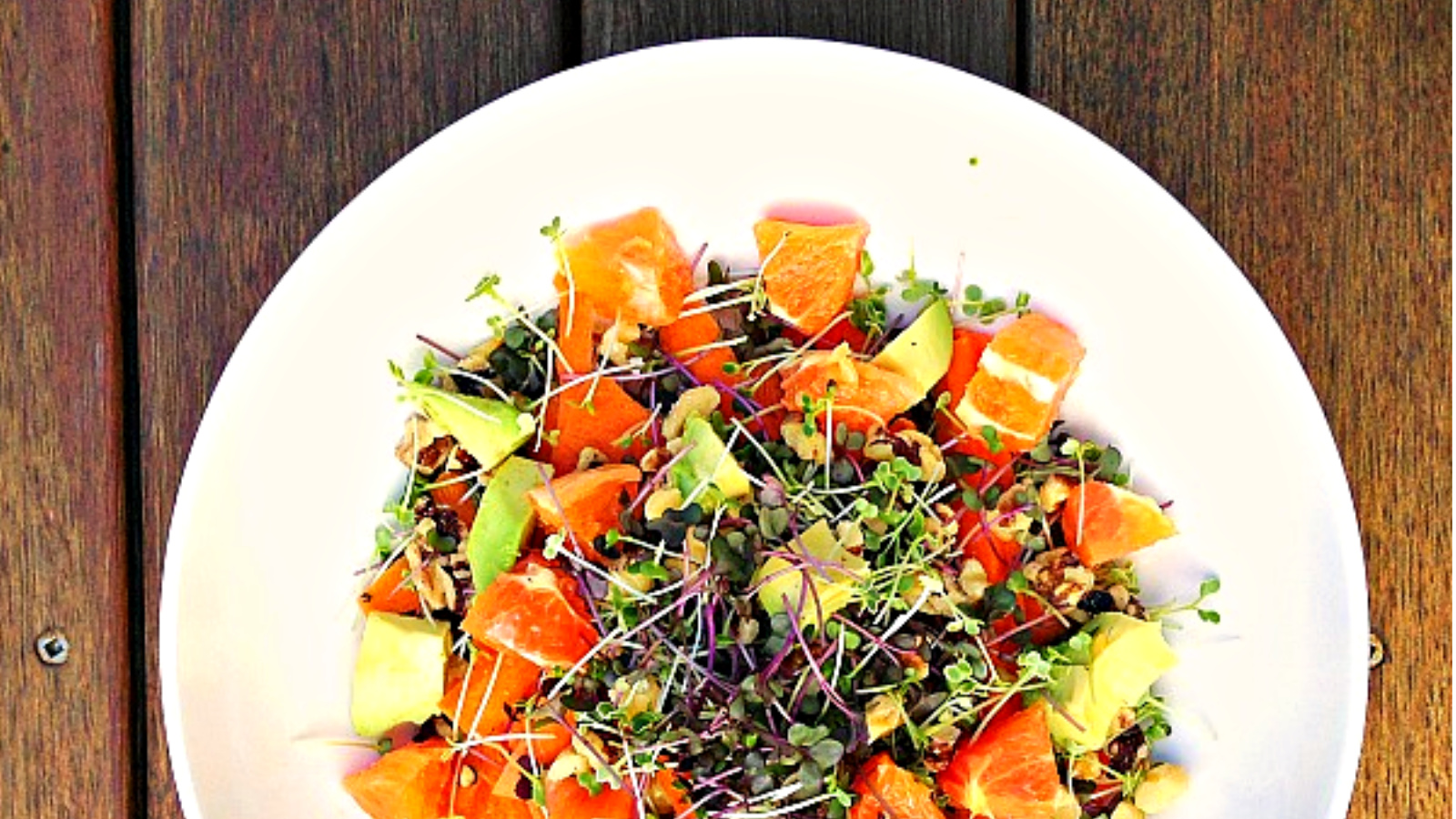 Microgreens recipe - Microgreen & Orange salad