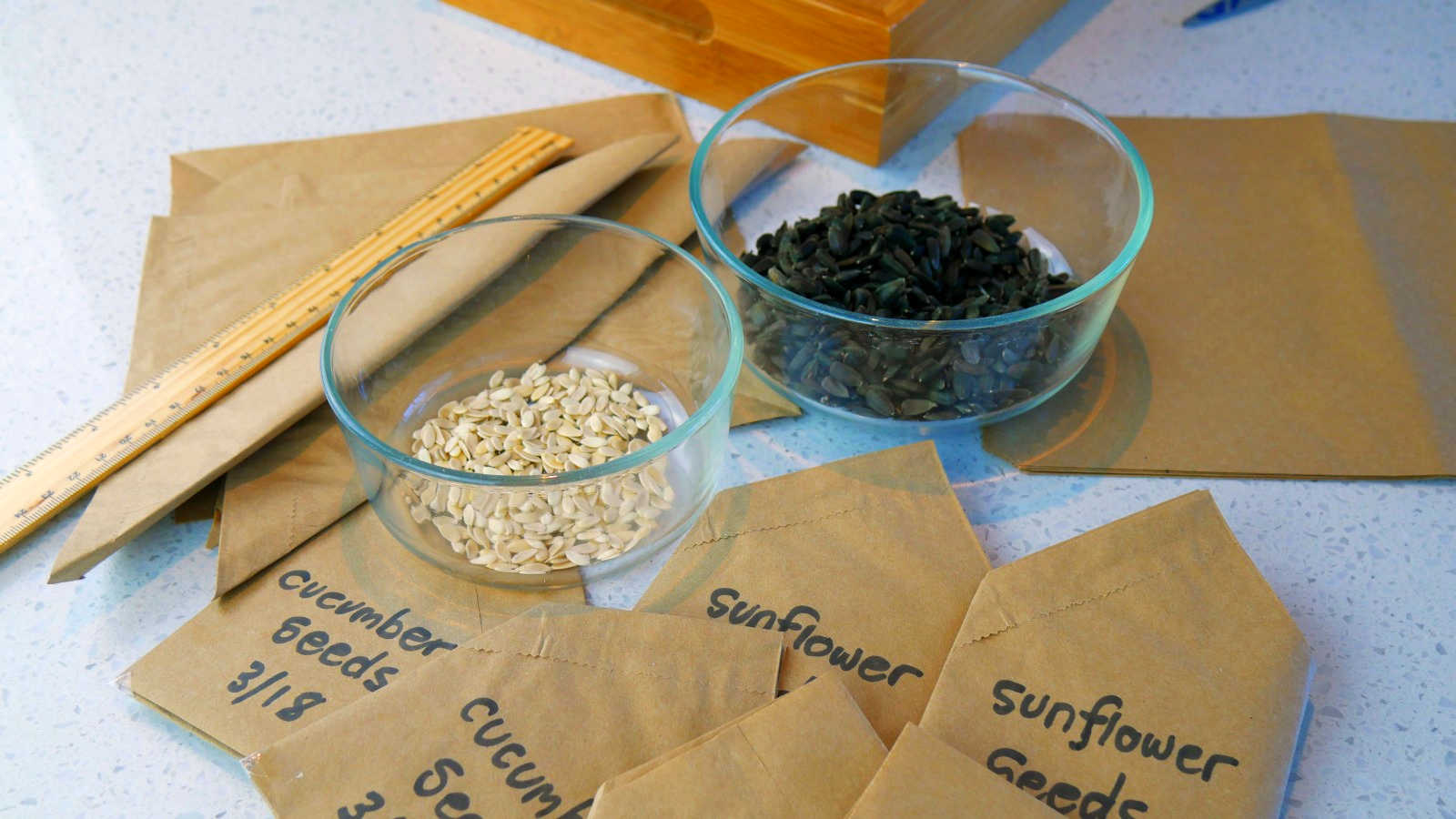 How to easily make seed storage envelopes
